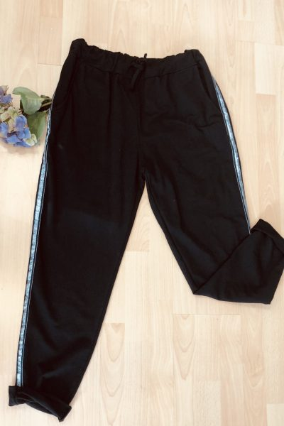 silver strip joggers