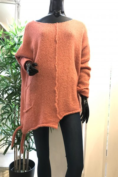 peach asymmetric jumper