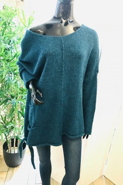 teal asymmetric jumper