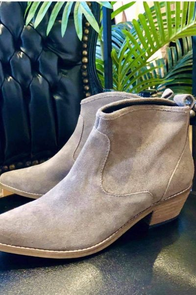 taupe western boots