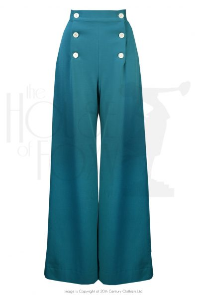 sailor trousers teal