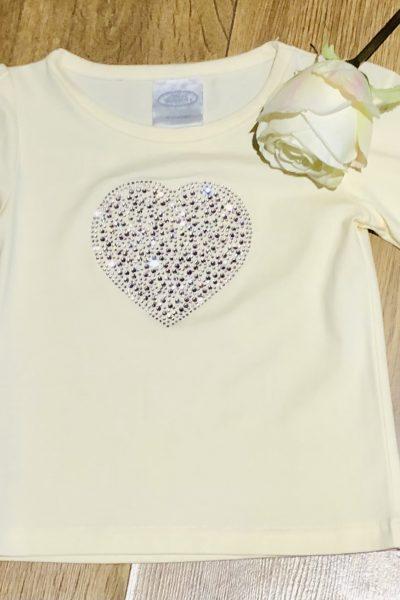 little girls heart t-shirt