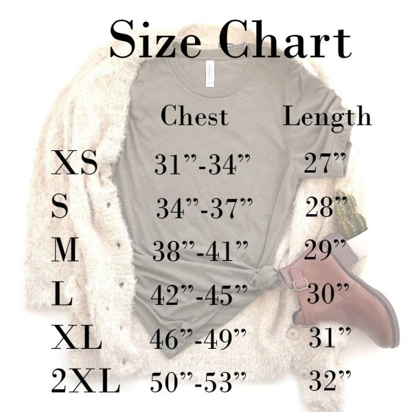 size chart for t shirt