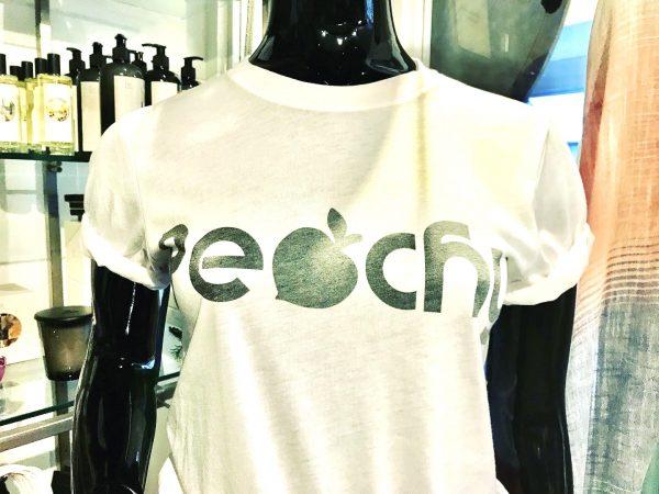 White cotton peachy t shirt