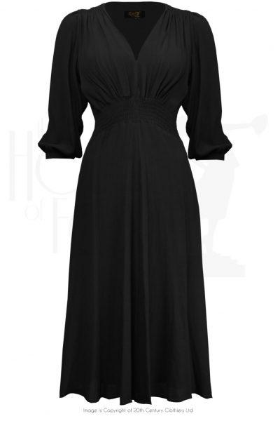 1930s Black Vera dress