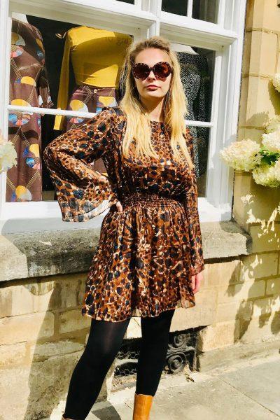 Animal Print Mellow Dress by Traffic People