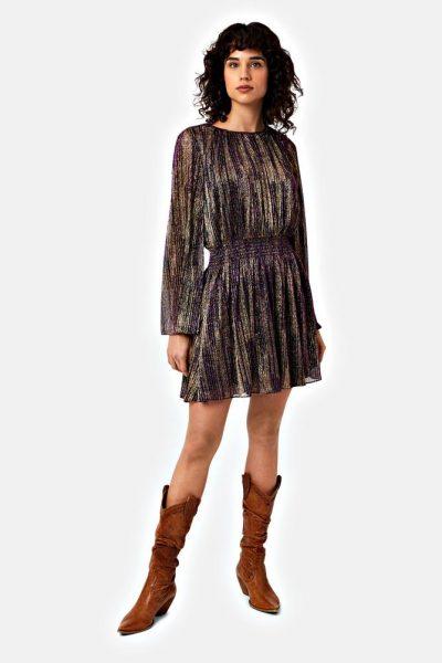 metallic mellow dress