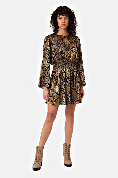 paisley print mellow dress