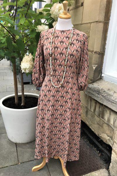 pink drape dress