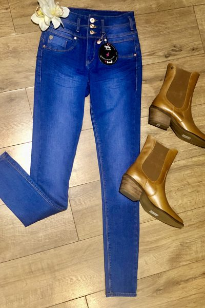 retro blue yilda skinny jeans by rant and rave